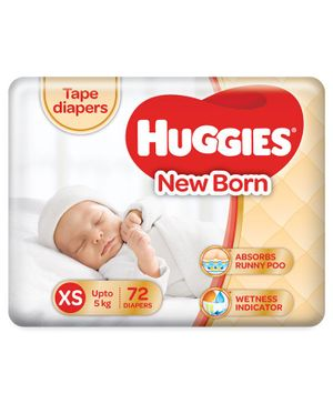 Huggies Taped Diapers For New Born -72 Pieces