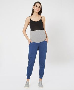 Mystere Paris Striped Elasticated Jogger Pants - Blue