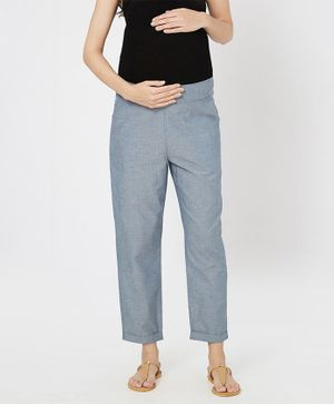 Mystere Paris Solid Elasticated Lounge Pants - Grey