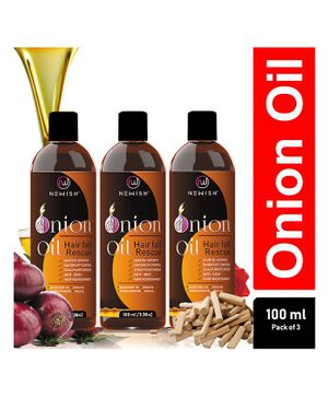 Newish Red Onion Hair Oil Pack of 3 - 100 ml Each