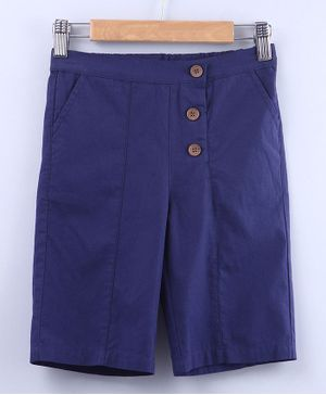 Beebay Solid Elasticated Culottes - Navy Blue