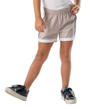 Cherry Crumble California Solid Elasticated Shorts - Grey