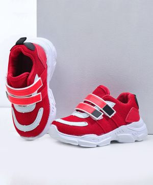 Cute Walk by Babyhug Sport Shoes - Red