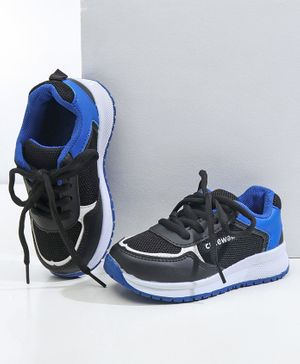 Cute Walk By Babyhug Lace Up Sports Shoes - Dark Blue