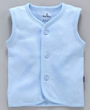 Child World Sleeveless Solid Vest - Sky Blue