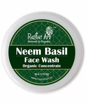 Rustic Art Organic Neem Basil Face Wash Concentrate - 50 grams