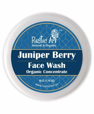 Rustic Art Organic Juniper Berry Face Wash Concentrate - 50 grams