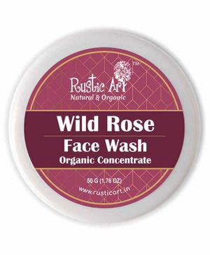 Rustic Art Organic Wild Rose Face Wash Concentrate - 50 gm
