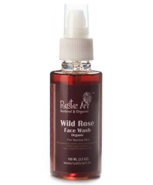 Rustic Art Organic Wild Rose Face Wash - 100 ml