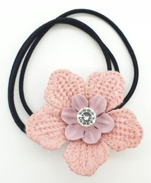Viaana Flower  Rubber Band - Baby Pink