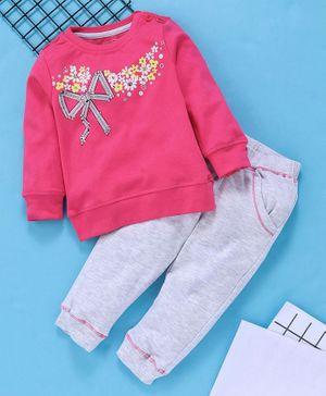 Kids Girls Baby Short Sleeve Striped T-Shirt Dress Long Tops Rabbit Print Casual