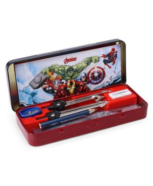 Classmate Invento Captain America Geometry Box Blue - 15 Pieces