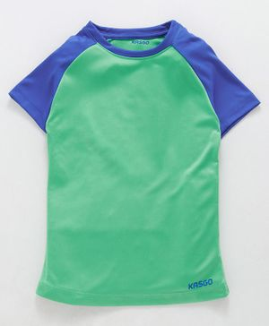 KASGO Raglan Half Sleeves Polo Tee - Green