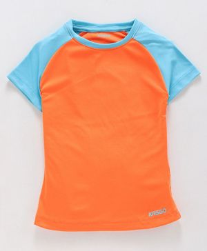 KASGO Raglan Half Sleeves Polo Tee - Orange