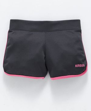 KASGO Solid Shorts - Grey & Pink