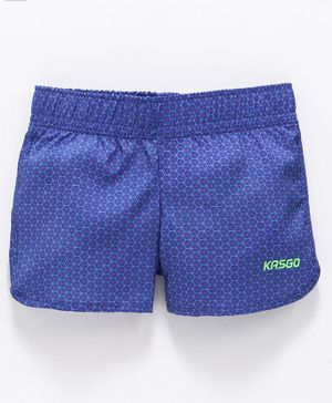 KASGO Self Design Shorts - Blue
