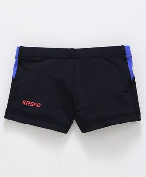 KASGO Solid Swimming Shorts - Black