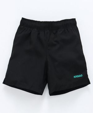KASGO Solid Shorts - Black