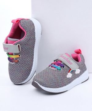 Cute Walk By Babyhug Casual Canvas Shoes - Grey