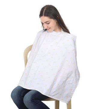 Colorfly Mother's Printed Feeding & Nursing Cover - White