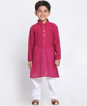 JBN Creation Solid Full Sleeves Kurta & Pyjama Set - Purple