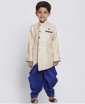JBN Creation Brocade Full Sleeves Kurta & Pajama Set - Blue