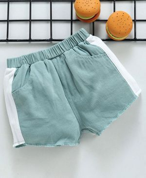 Lekeer Kids Elasticated Waist Shorts - Green