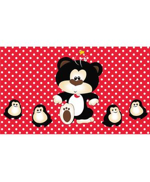 Sassoon Cotton Bath Towel Cartoon Print - Red