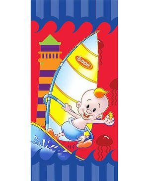 Sassoon Cotton Bath Towel Ship Print - Multicolor