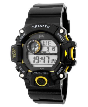 Kool Kidz Digital Watch - Black Yellow