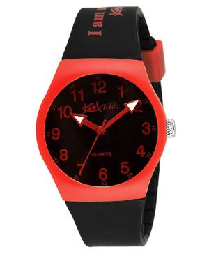 Kool Kidz Analogue Watch - Red & Black