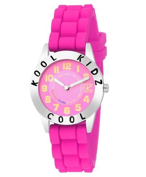 Kool Kids Analogue Watch - Dark Pink
