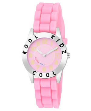 Kool Kids Analogue Watch - Light Pink