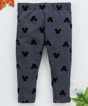 OVS Mickey Mouse Print Full Length Leggings - Grey