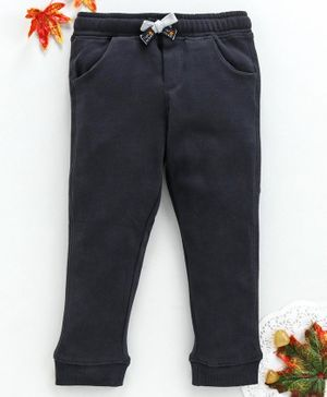 OVS Solid Full Length Trousers - Dark Grey