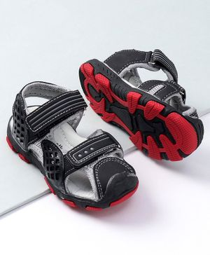 Cute Walk by Babyhug Sandals With Velcro Closure - Black