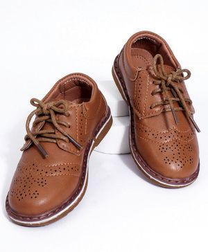 Cute walk by Babyhug Formals Shoes - Brown
