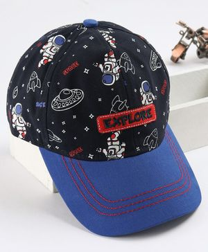 Babyhug Cap Space Print - Blue
