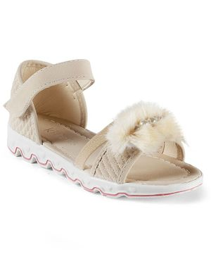 Kittens Shoes Pearl Detailed Sandals - Beige