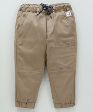 Babyoye Full Length Cotton Cargo Trouser - Beige