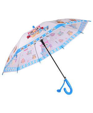 Smartcraft Owl Print Kids Umbrella - Blue White