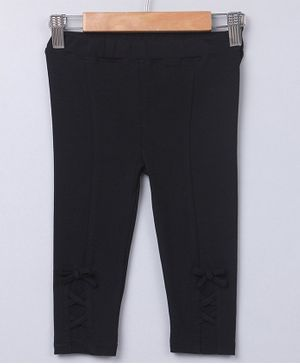 Beebay Full Length Interlaced Jeggings - Black