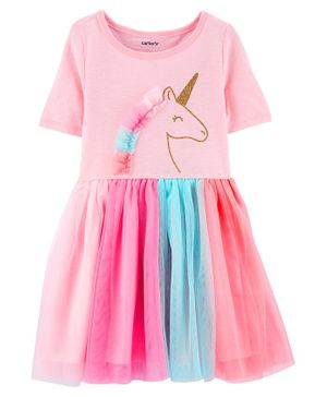 Carter's Glitter Unicorn Tutu Jersey Dress - Pink
