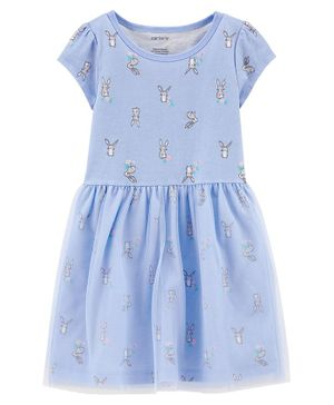 Carter's Bunny Tutu Jersey Dress - Blue