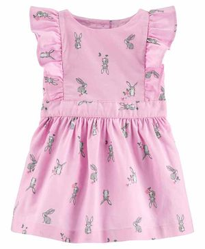 Carter's Bunny Flutter Dress - Pink