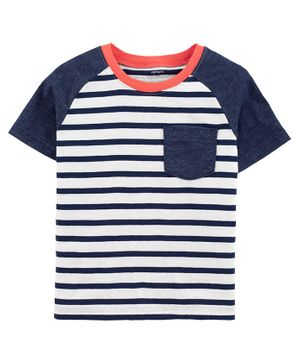 Carter's Striped Pocket Jersey Tee - Multicolor