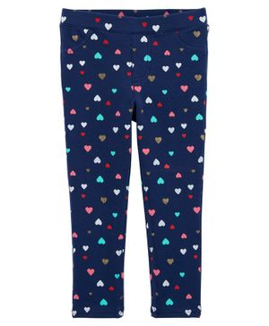 Carter's Heart Pull-On French Terry Pants - Blue