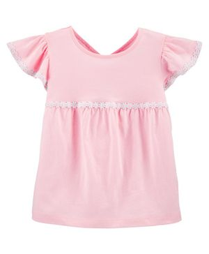 Carter's Embroidered Jersey Top - Pink