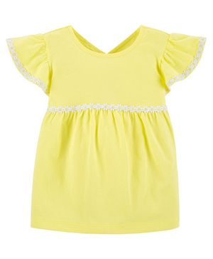 Carter's Embroidered Jersey Top - Yellow