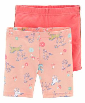 Carter's Shorts Unicorn Print Pack of 2 - Pink